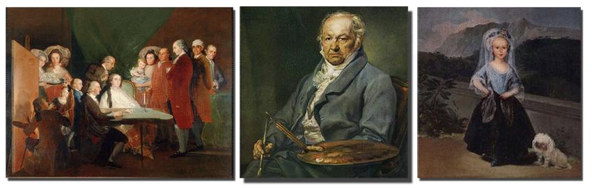 Goya y sus cuadros pintados en el Palacio de la Mosquera