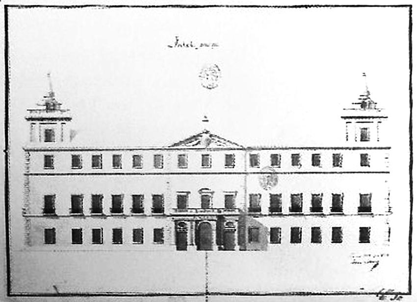 Diseño de la Fachada del Palacio del Infante don Luis de Borbón y Farnesio o Palacio de la Mosquera de Arenas de San Pedro - TiétarTeVe