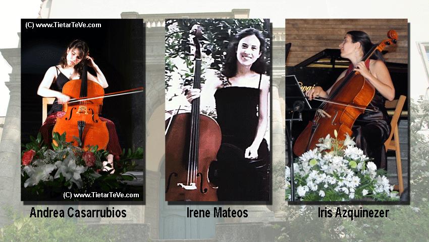Tres Chelistas: Iris Azquinezer, Andrea Casarrubios e Irene Mateos - TiétarTeVe