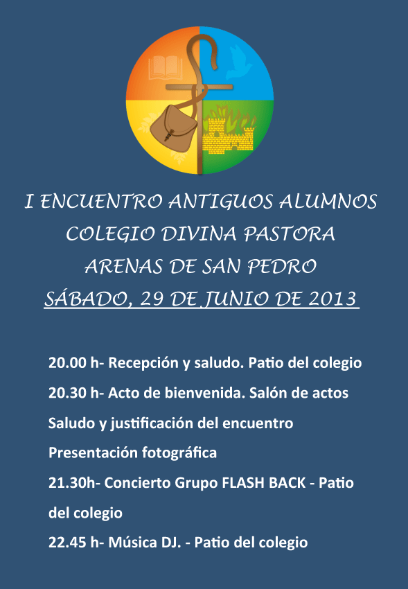 Programa I Encuentro de Antiguos Alumnos del Colegio Divina Pastora de Arenas de San Pedro - TiétarTeVe