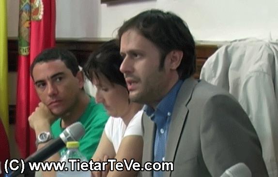 Óscar Tapias en un Pleno del Ayuntamiento de Arenas de San Pedro - TiétarTeVe