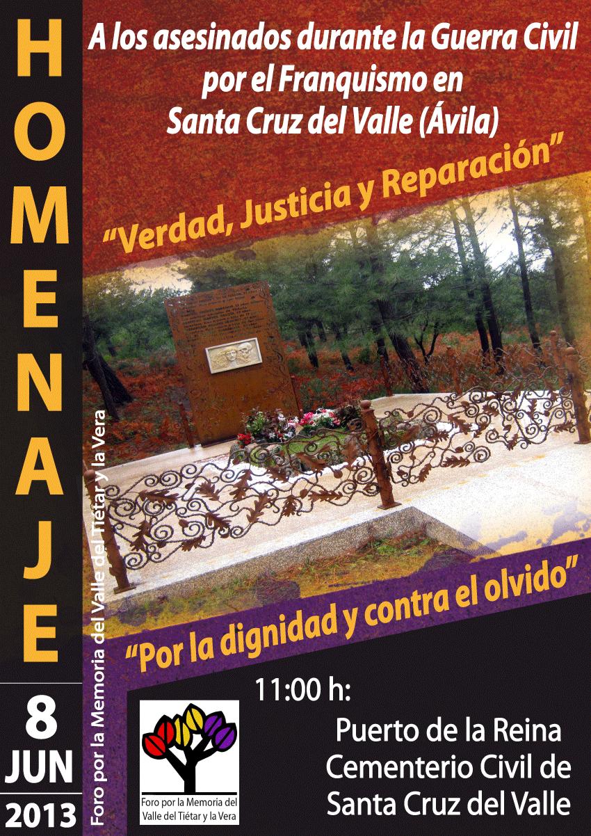 Inauguración del Memorial y Homenaje a las víctimas del franquismo en el Puerto de la Reina (Cementerio Civil) de Santa Cruz del Valle
