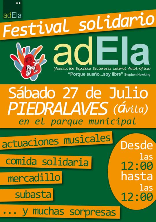 Festival Solidario en Piedralaves por la Esclerosis Lateral Amiotrofica - TiétarTeVe