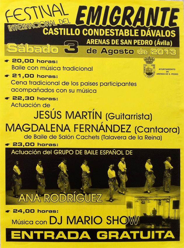 Festival del Emigrante en Arenas de San Pedro - TiétarTeVe