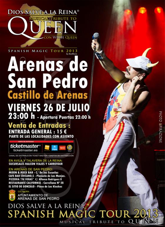 Freddie Mercury y Queen en Dios Salve a la Reina - Arenas de San Pedro - TiétarTeVe