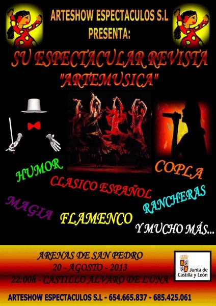 Teatro Revista Artemúsica en Arenas de San Pedro - TiétarTeVe