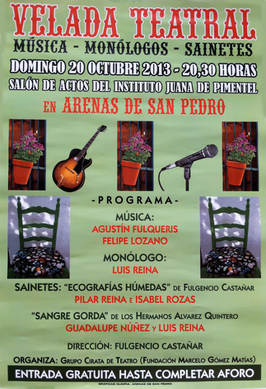 Velada Teatral en Arenas de San Pedro - TiétarTeVe