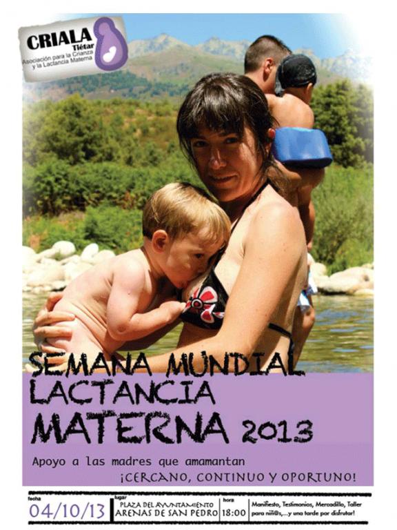 Semana de la Lactancia Materna en Arenas de San Pedro 2013 - TiétarTeVe