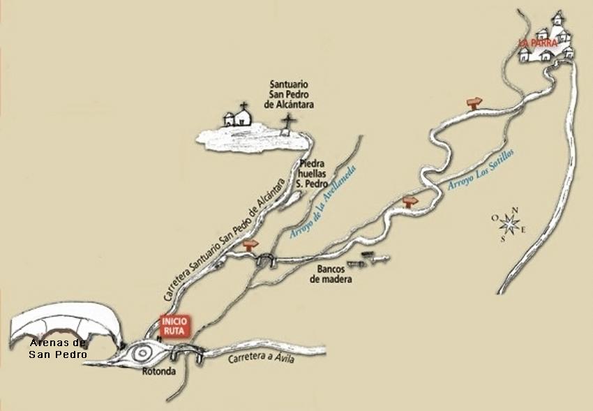 Ruta Camino Viejo San Pedro - La Parra - Arenas de San Pedro