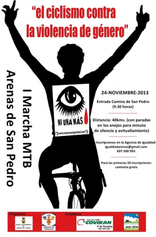 """I Marcha Ciclista """"El ciclismo contra la Violencia de Género"""" en Arenas de San Pedro - TiétarTeVe"""