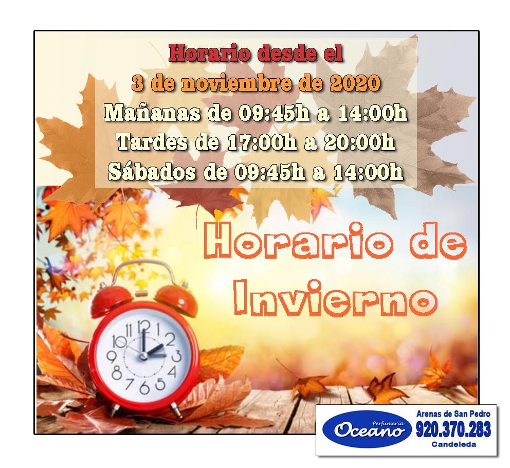 2020-11-03 Horario Perfumería Océano - TiétarTeVe