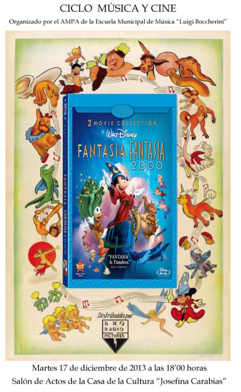 Cartel Fantasía 2000 - AMPA Escuela Música de Arenas de San Pedro - TiétarTeVe