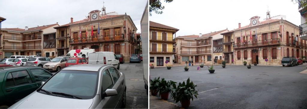 Antes y después de la Plaza Mayor de Candeleda - TiétarTeVe