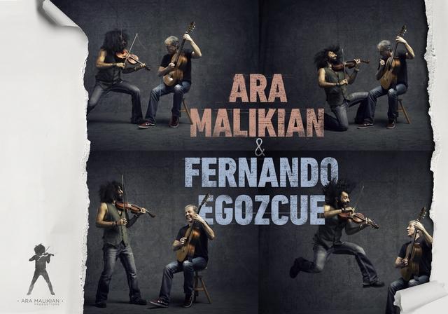 """Cartel """"Con los ojos abiertos"""" con Ara Malikian y Fernando Egozcue en Talavera de la Reina - TiétarTeVe"""