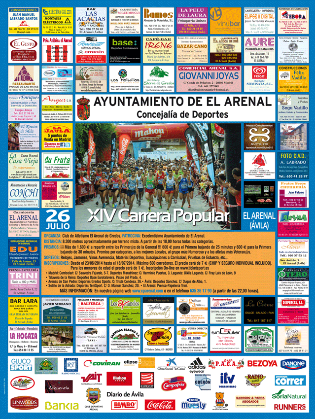 XIV Carrera Popular de El Arenal - TiétarTeVe