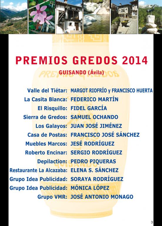 Premios Gredos de Guisando 2014 - TiétarTeVe