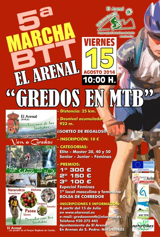 V Marcha BTT de El Arenal - Gredos en MTB - TiétarTeVe