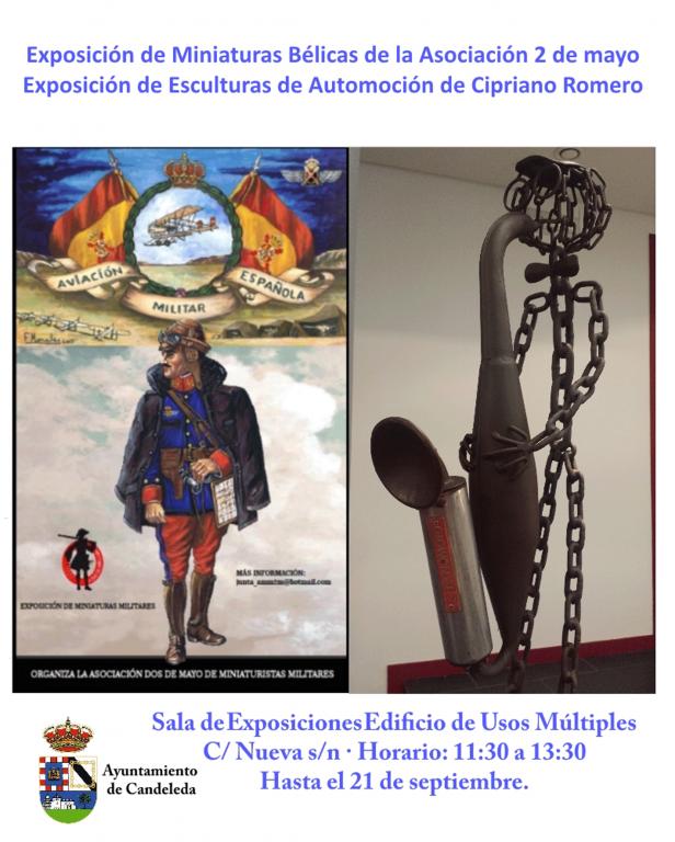 Exposicion-Miniaturas-belicas-esculturas-metalicas-Candeleda - TiétarTeVe