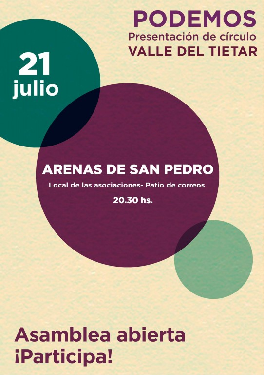 Presentacion Podemos Valle del Tiétar en Arenas de San Pedro - TiétarTeVe