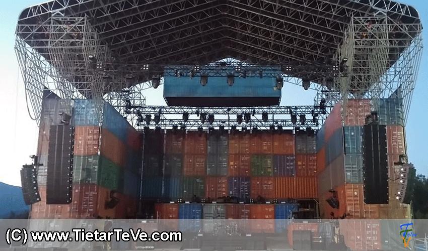 Escenario de Extremoduro en Arenas de San Pedro - TiétarTeVe