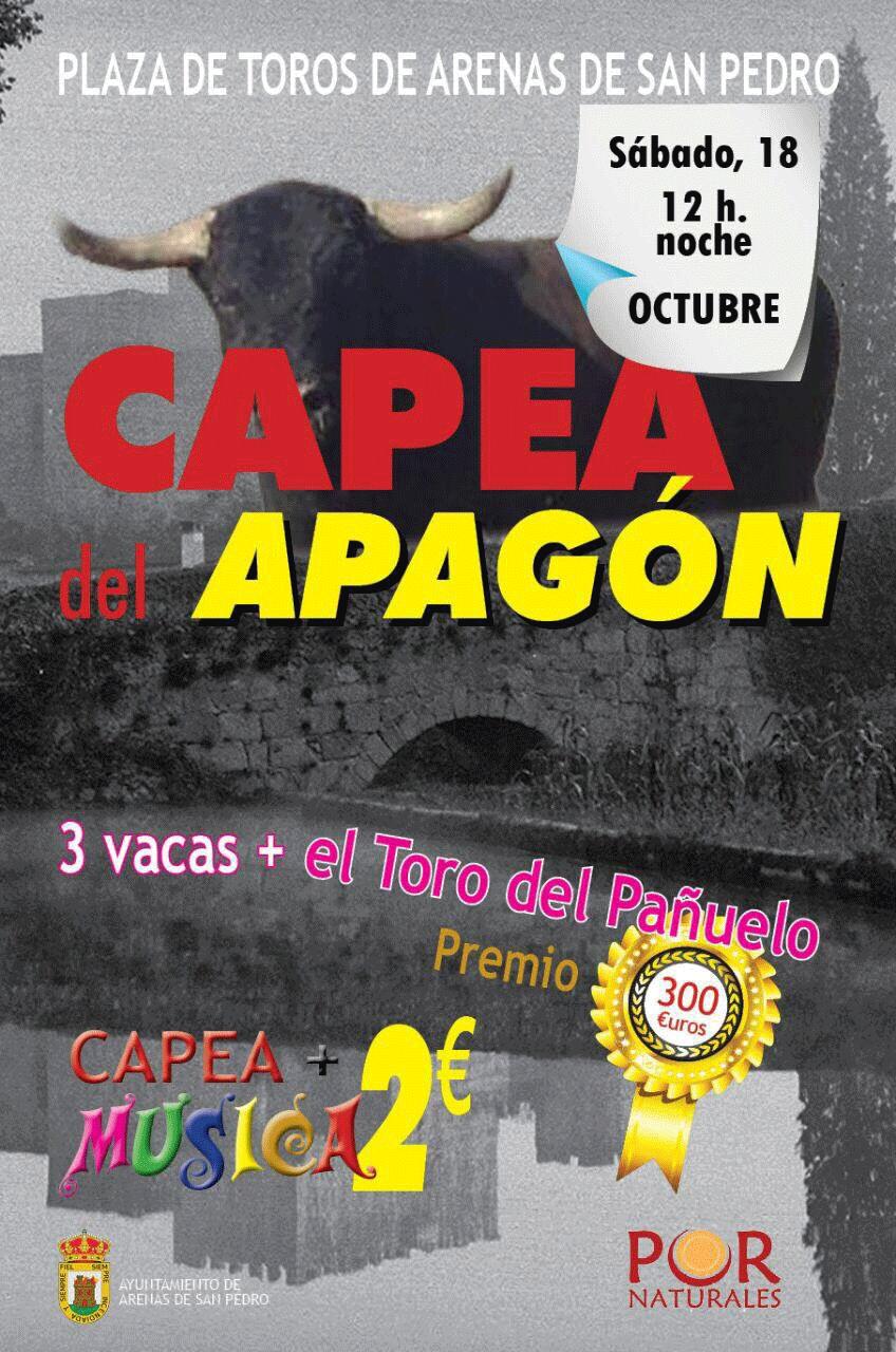 Capea del Apagón en Arenas de San Pedro - TiétarTeVe