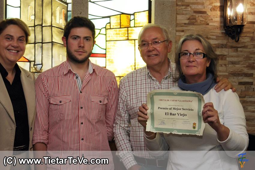 Premio al Mejor Servicio Ruta Avileña de Arenas de San Pedro - Bar Viejo - TiétarTeVe