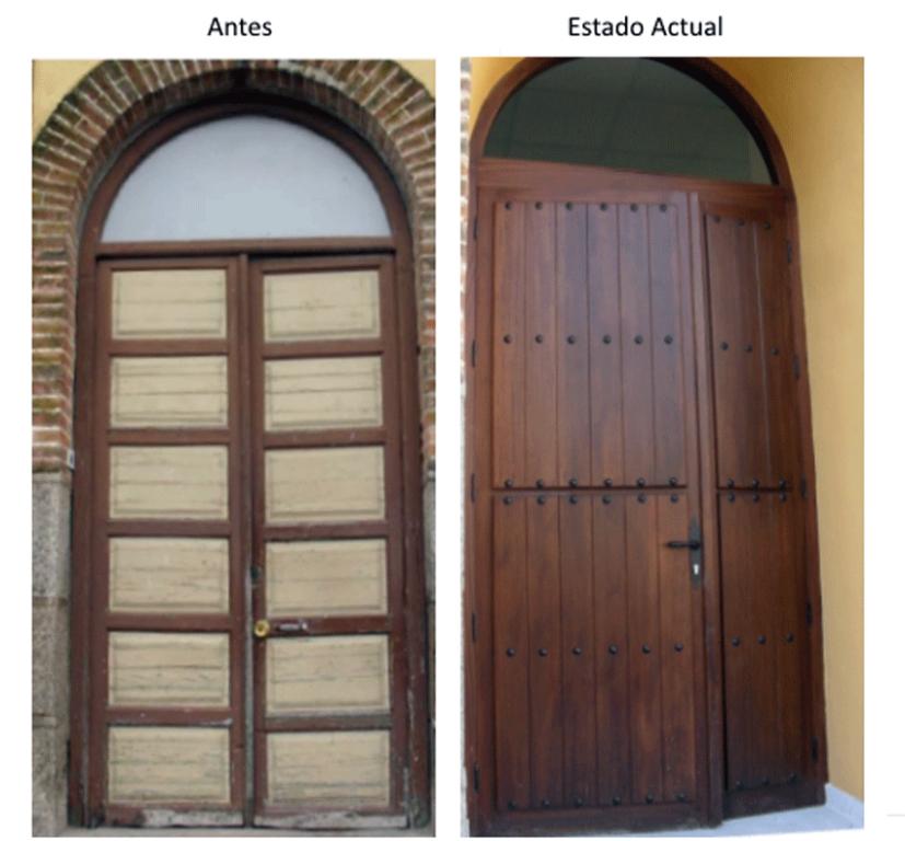 Reforma de las Puertas del Colegio Público Almanzor de Candeleda - TiétarTeVe