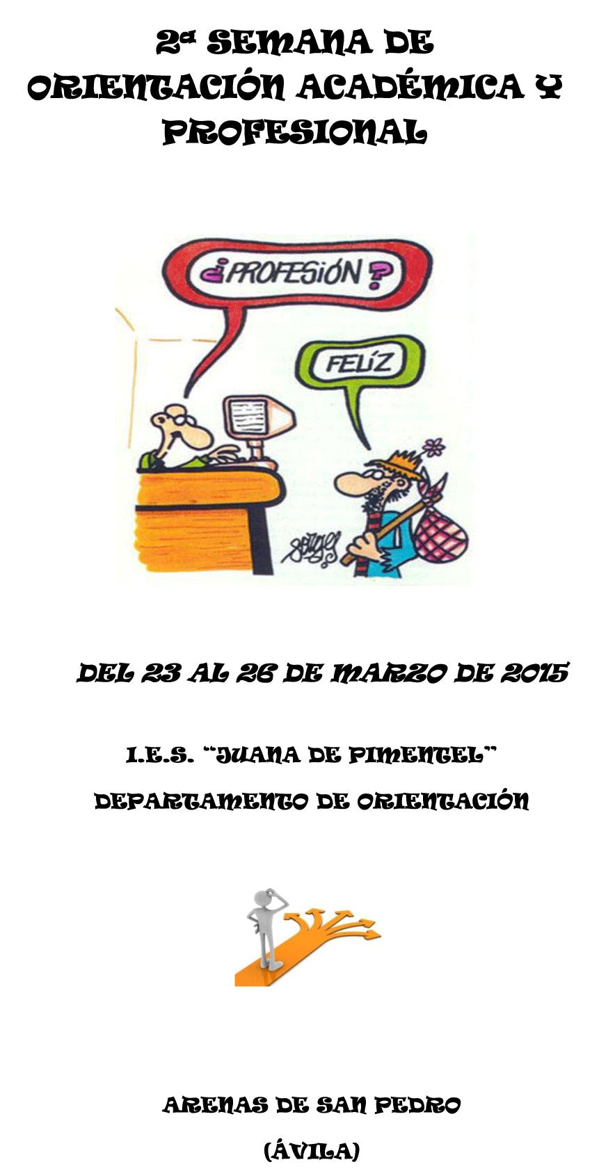 II Semana de Orientación Profesional del IES Juana de Pimentel de Arenas de San Pedro - TiétarTeVe