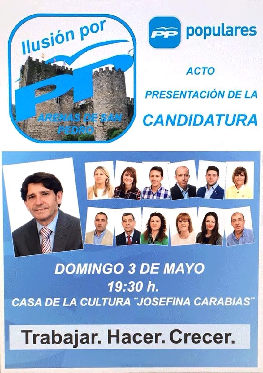 Presentación del PP a las municipales 2015 en Arenas de San Pedro - TiétarTeVe