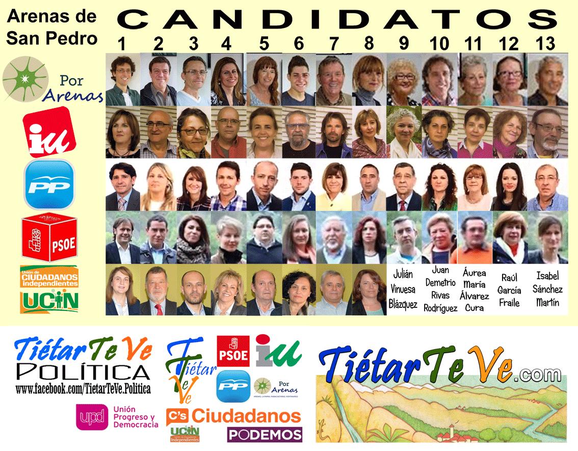 Candidatos a las Municipales 2015 en Arenas de San Pedro - TiétarTeve