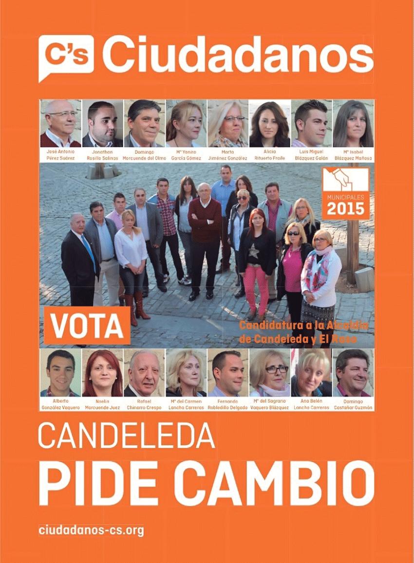 Candidatura Ciudadanos a las Municipales 2015 para el Ayuntamiento de Candeleda - TiétarTeVe