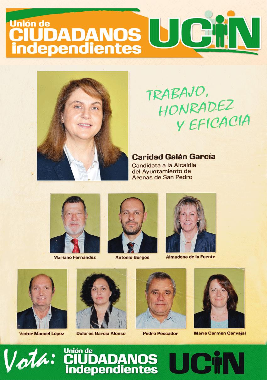 Cartel Candidatos UCIN Arenas de San Pedro - TiétarTeVe