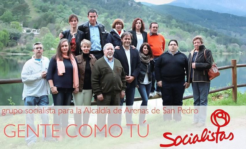 Candidatos del PSOE de Arenas de San Pedro a las Municipales 2015