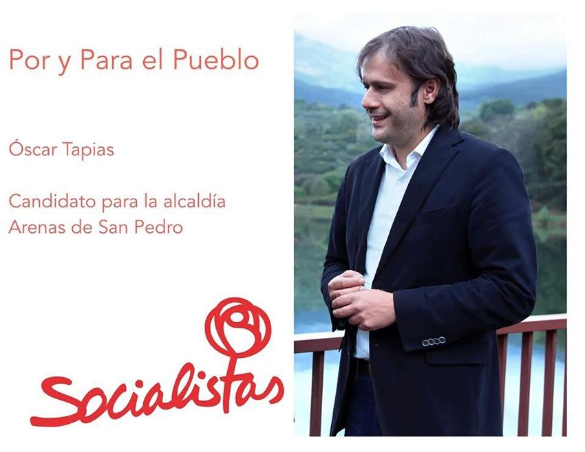 Óscar Tapias -  Candidatos del PSOE de Arenas de San Pedro - Municipales 2015