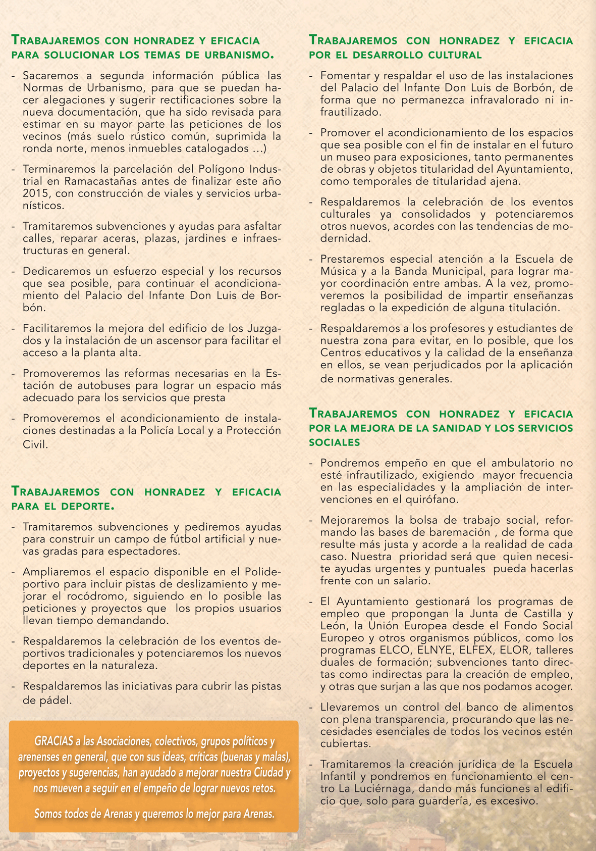 Programa Electoral UCIN Arenas de San Pedro - TiétarTeVe