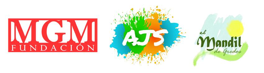 Logotipos de la Fundación MGM, la Asociación Jóvenes Solidarios y la Asociación El Mandil de Gredos - TiétarTeve