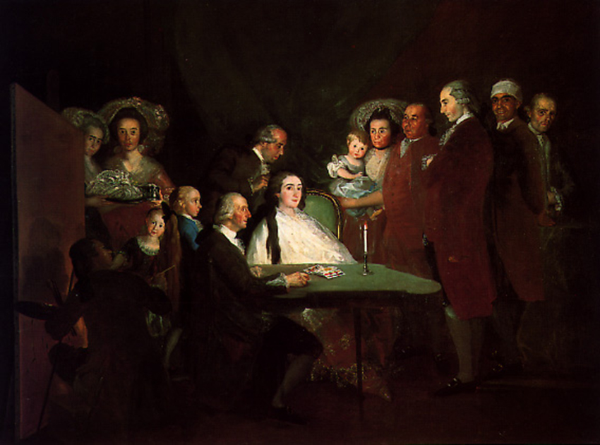 La familia del Infante don Luis en Arenas de San Pedro - Goya