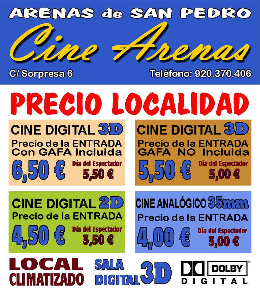 Horario y Precios Cine Arenas de Arenas de San Pedro