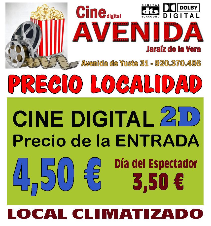 Horario y Precios Cine Avenida de Jaraíz de la Vera
