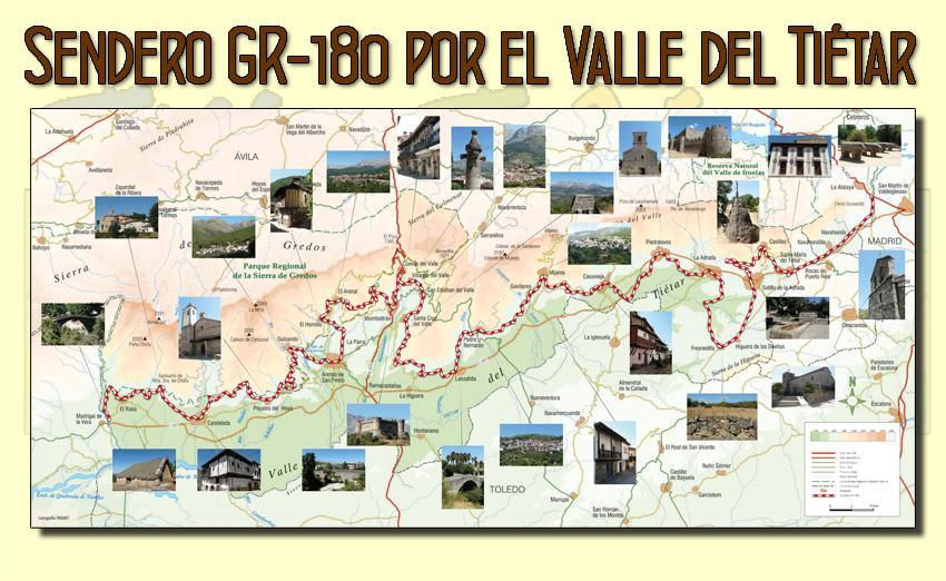 Sendero GR 180 por el Valle del Tiétar
