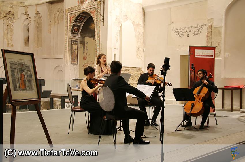 Concierto del Cuarteto Galdós y Gudrún Ólafsdóttir en Talavera de la Reina - TiétarTeVe