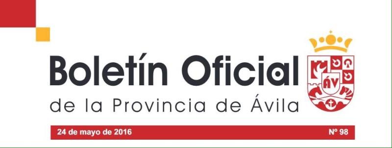 Boletín oficial de la Provincia de Ávila