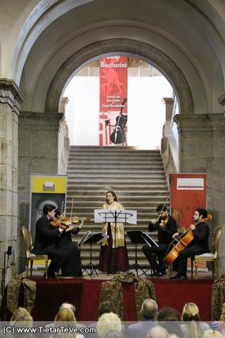 Concierto del Cuarteto Galdós y Gudrún Ólafsdóttir en Arenas de San Pedro - TiétarTeVe