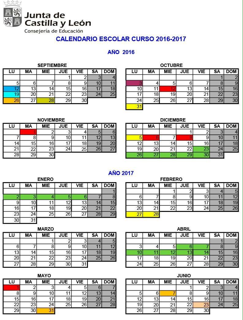 El Curso Escolar 2016 2017 Comienza El Lunes 12 De