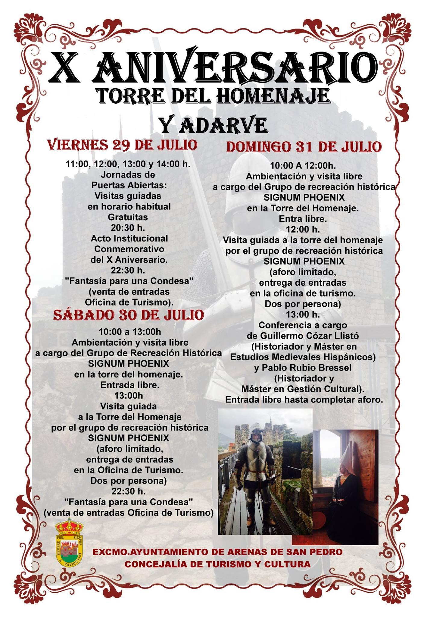 Actos X Aniversario Torre Homenaje y Adarve del Castillo de Arenas de San Pedro - TiétarTeVe