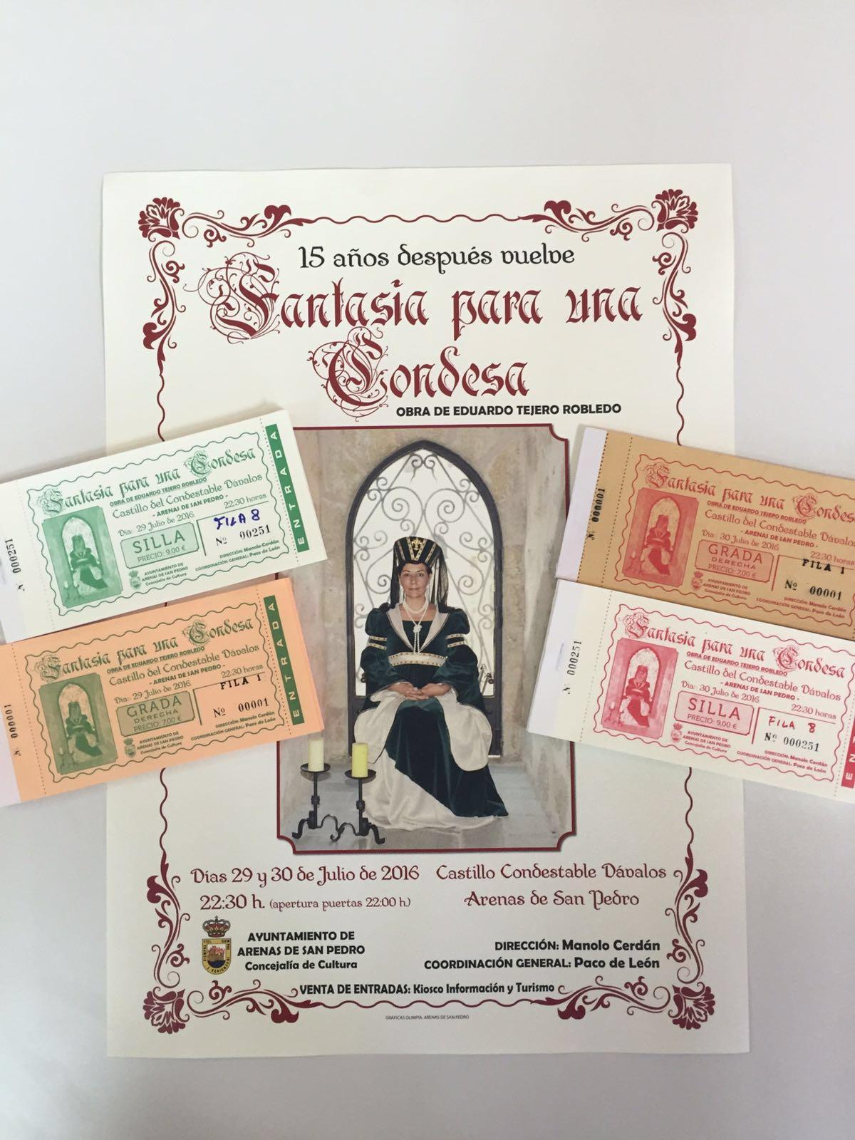 Entradas Fantasía para una Condesa en Arenas de San Pedro - TiétarTeVe