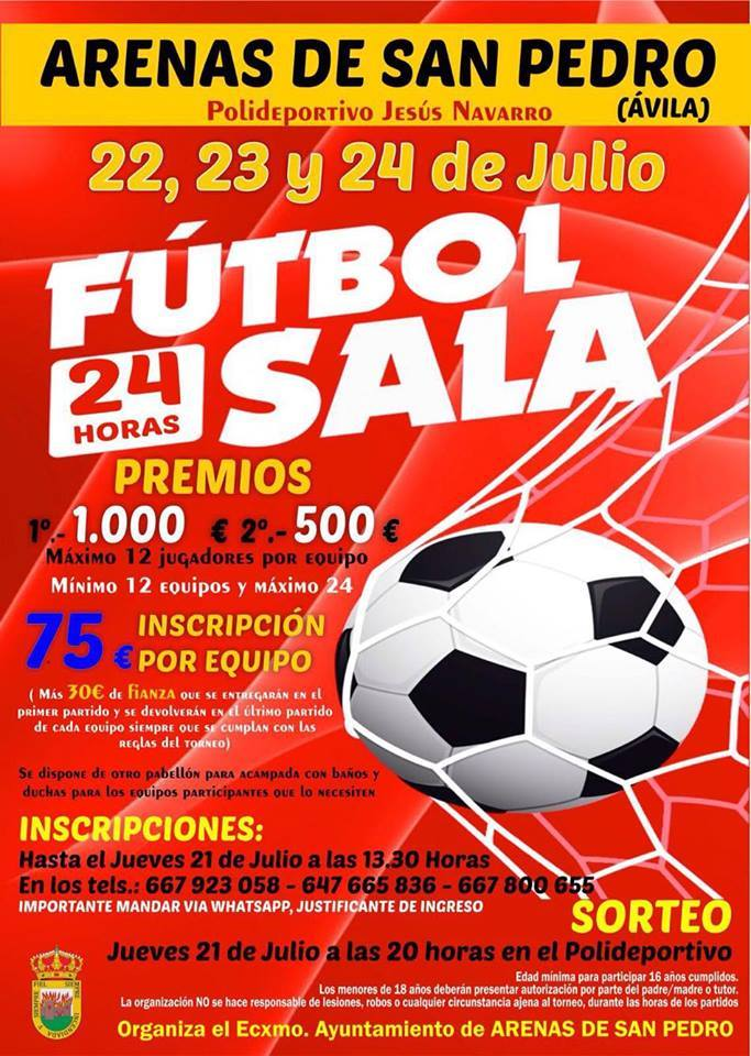 Fútbol Sala 24 horas en Arenas de San Pedro - TiétarTeVe