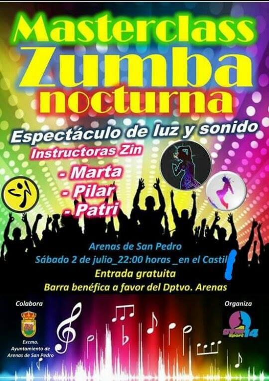 Masterclass Zumba Nocturna en Arenas de San Pedro - TiétarTeVe