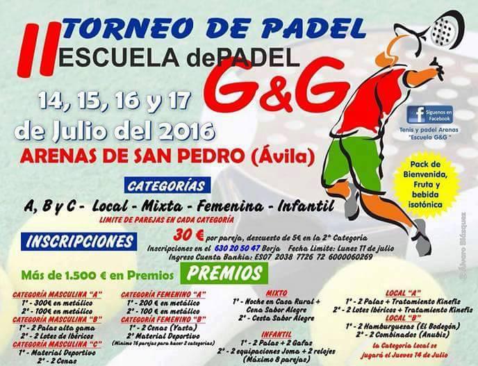 II Torneo de Pádel en Arenas de San Pedro - TiétarTeVe
