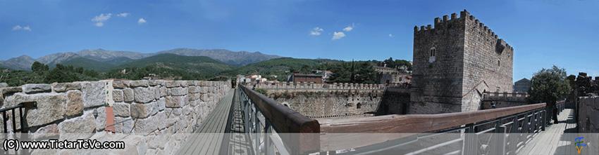 Panorámica del Adarve del Castillo del Condestable Dávalos de Arenas de San Pedro - TiétarTeVe